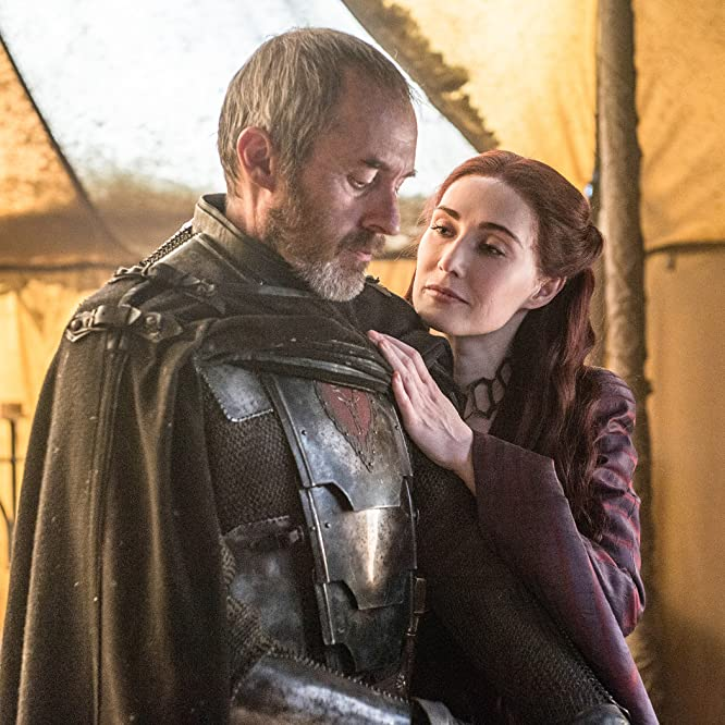 Stephen Dillane and Carice van Houten in Game of Thrones (2011)