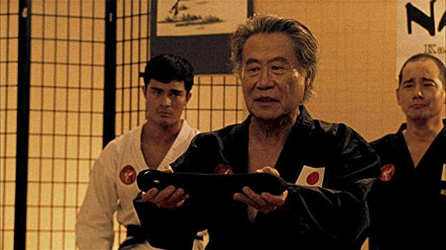 (L to R) Michael Hake, Sab Shimono, and Tim Lounibos in a scene from THE SENSEI.