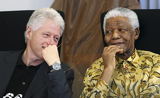 Bill Clinton and Nelson Mandela