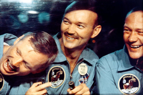 Buzz Aldrin, Neil Armstrong, and Michael Collins in In the Shadow of the Moon (2007)