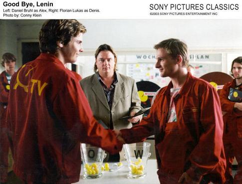 Daniel Brühl and Florian Lukas in Good Bye Lenin! (2003)