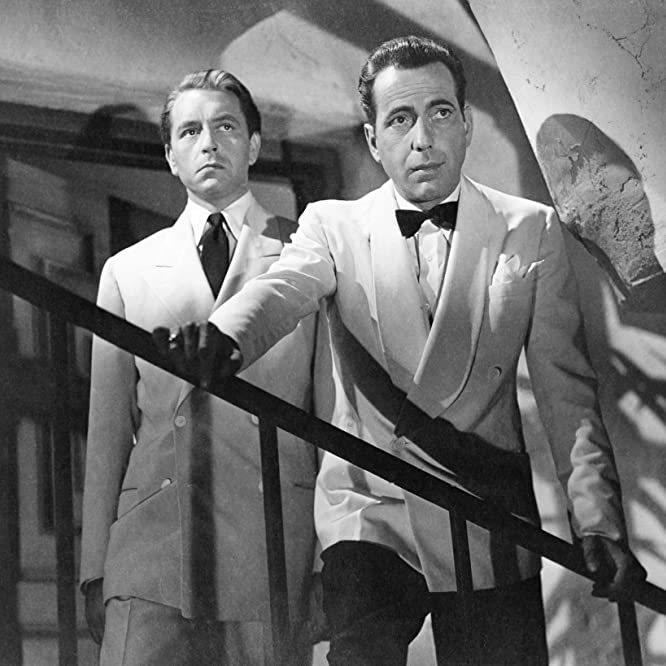 Humphrey Bogart and Paul Henreid in Casablanca (1942)