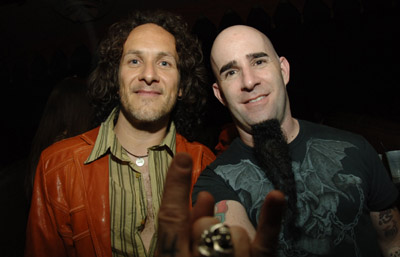 Scott Ian and Vivian Campbell