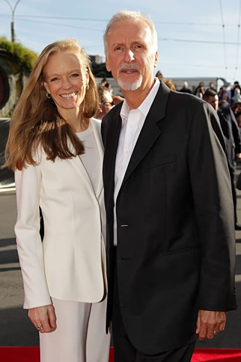 James Cameron and Suzy Amis at an event for The Hobbit: An Unexpected Journey (2012)