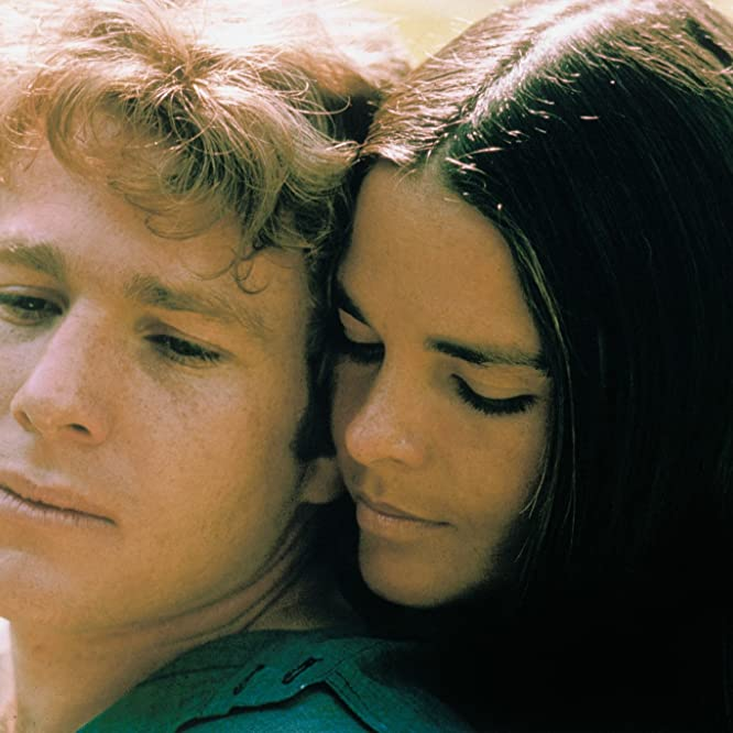 Ali MacGraw and Ryan O'Neal in Love Story (1970)
