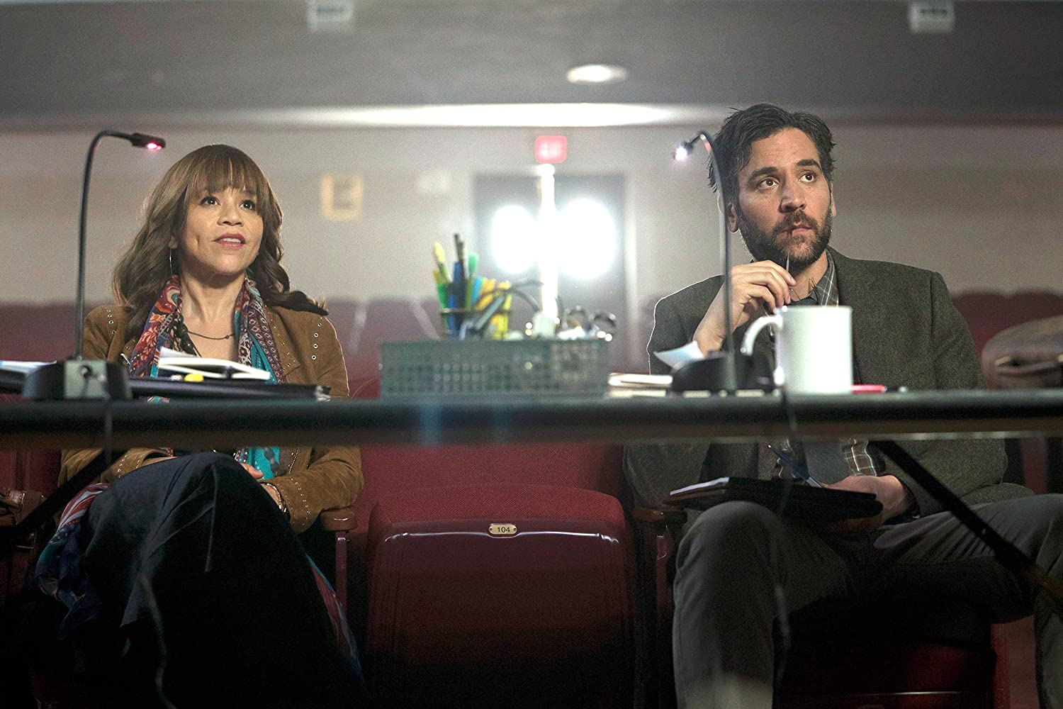 Rosie Perez and Josh Radnor in Rise (2017)