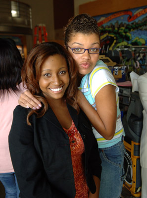 Andrea Lewis and Sarah Barrable-Tishauer at an event for Degrassi: The Next Generation (2001)
