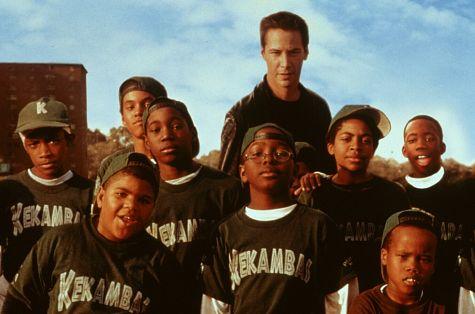 Keanu Reeves, A. Delon Ellis Jr., Julian Griffith, Bryan Hearne, Michael B. Jordan, Michael Perkins, Brian M. Reed, Alexander Telles, and DeWayne Warren in Hardball (2001)