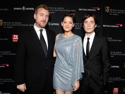 Marion Cotillard, Cillian Murphy, and Christopher Nolan