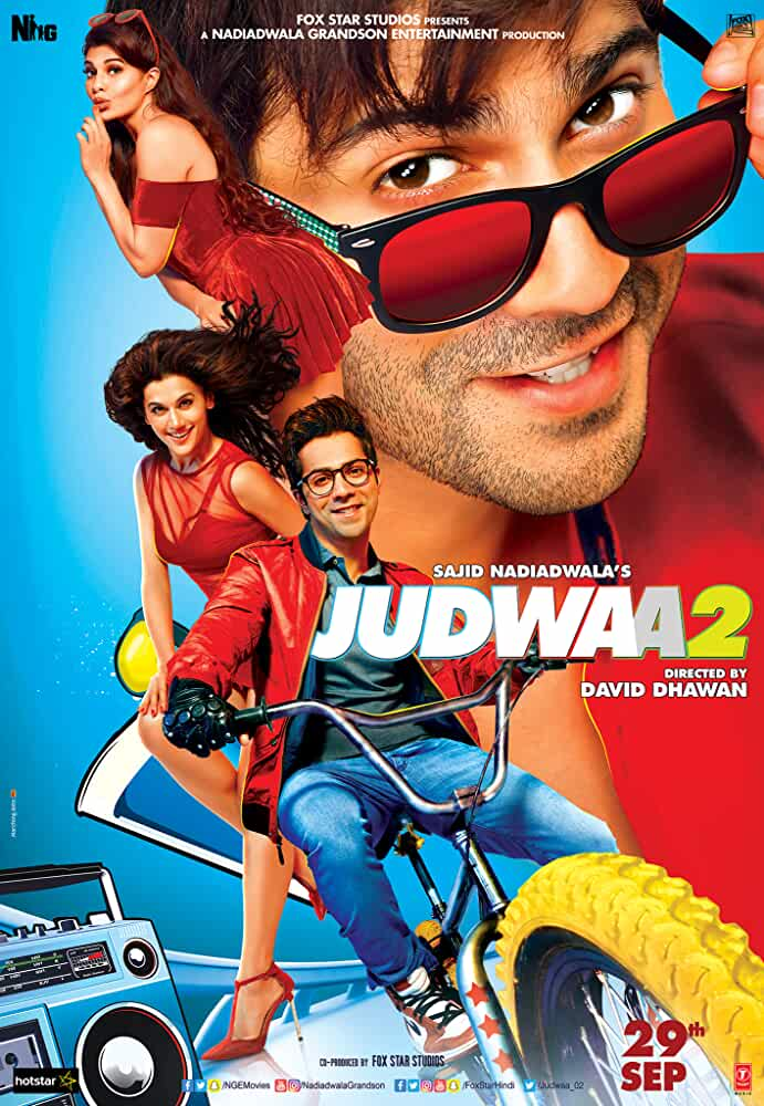 Poster Judwaa 2 (2017) Full Hindi Movie Download Free 720p