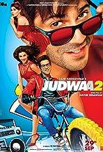 Prachi Shah, Jacqueline Fernandez, Varun Dhawan, Tapsee Pannu, Priyal Patel, and Fernanda Diniz in Judwaa 2 (2017)