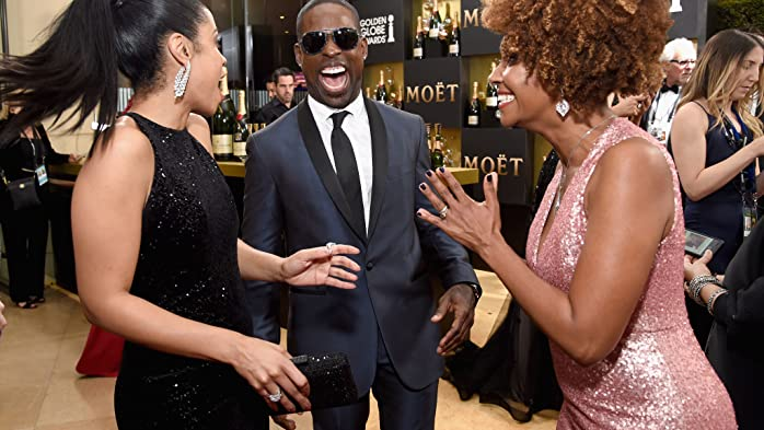Sterling K. Brown, Ryan Michelle Bathe, and Susan Kelechi Watson at an event for The 74th Golden Globe Awards (2017)