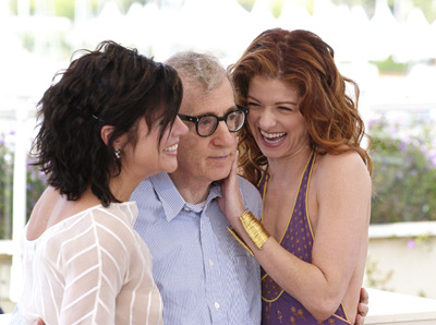 Woody Allen, Debra Messing, and Tiffani Thiessen at an event for Hollywood Ending (2002)