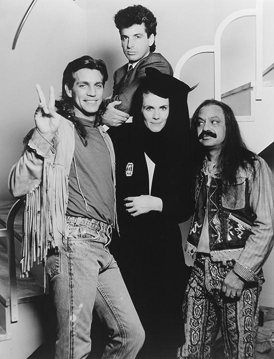 Eric Roberts, Robert Carradine, Cheech Marin, and Julie Hagerty in Rude Awakening (1989)