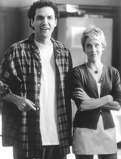 Traylor Howard and Norm MacDonald in Dirty Work (1998)