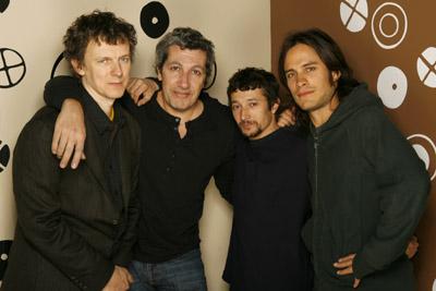 Sacha Bourdo, Alain Chabat, Gael García Bernal, and Michel Gondry at The Science of Sleep (2006)