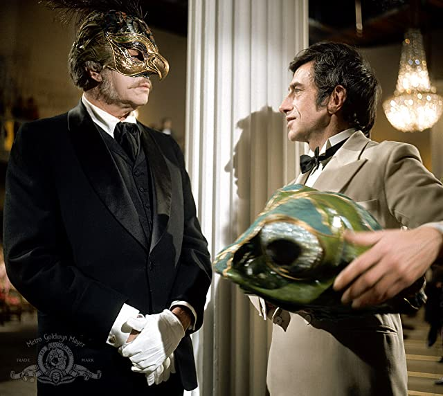 Vincent Price and Alex Scott in The Abominable Dr. Phibes (1971)