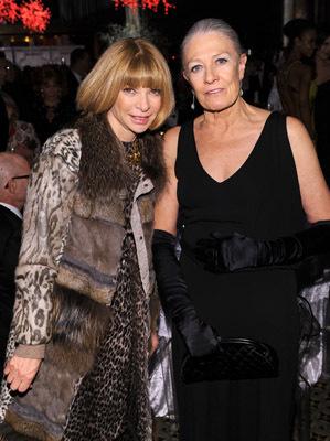 Vanessa Redgrave and Anna Wintour