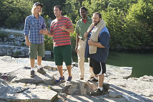 Adam Sandler, Chris Rock, David Spade, and Kevin James in Grown Ups 2 (2013)