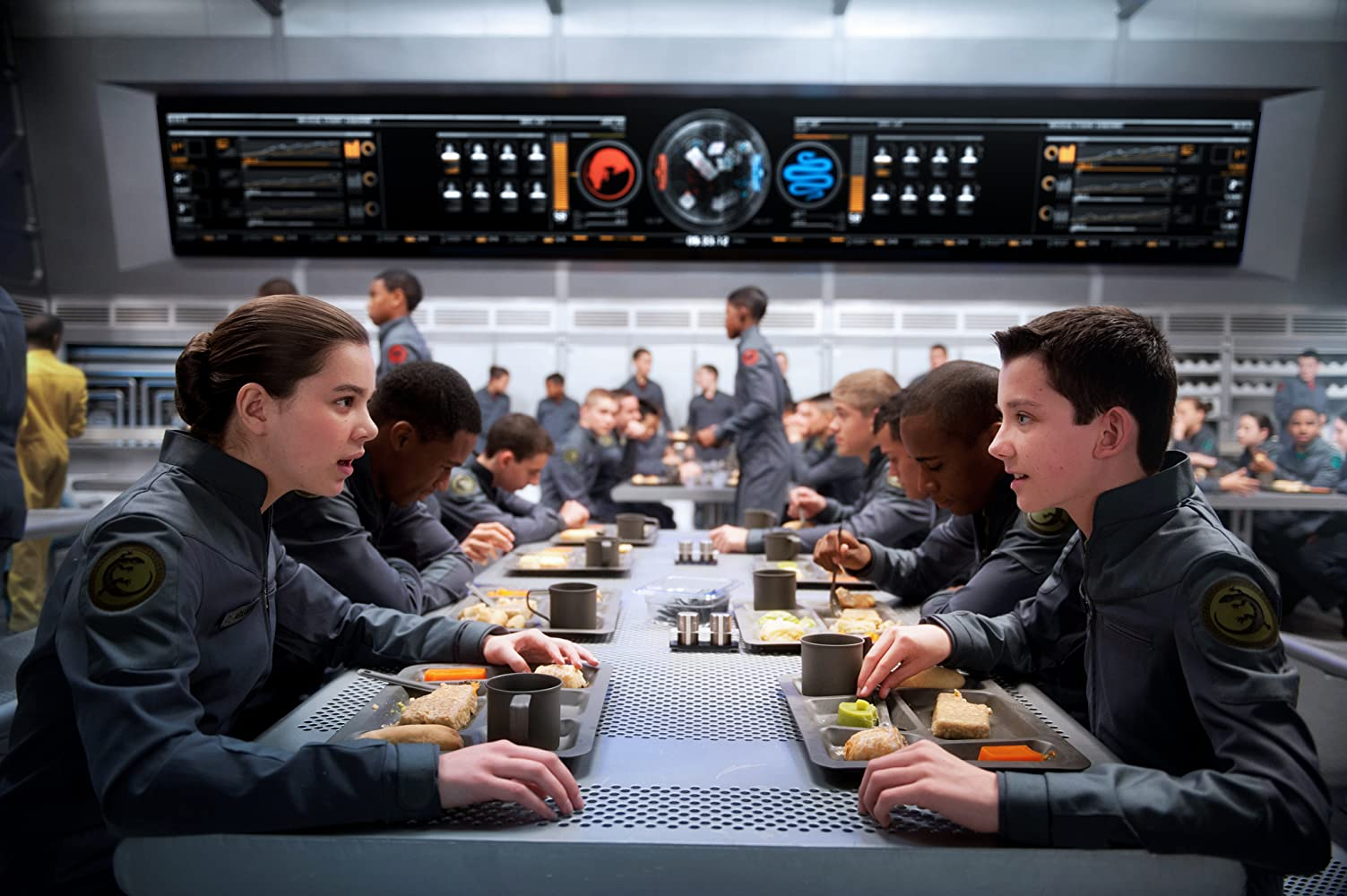Ender and other members of his ship's junior IT staff. (From IMDB)