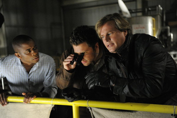 Cary Elwes, Dulé Hill, and James Roday in Psych (2006)