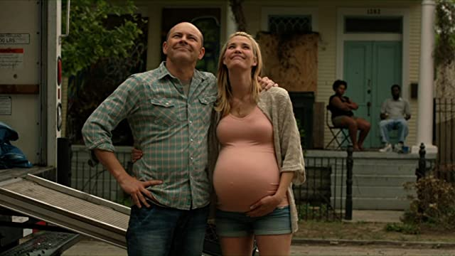 Leslie Bibb and Rob Corddry in Hell Baby (2013)