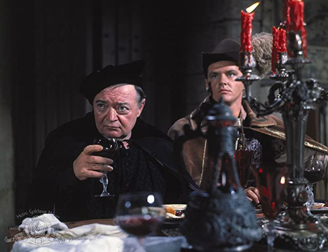 Peter Lorre and Jack Nicholson in The Raven (1963)