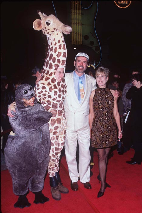John Cleese and Alyce Faye Eichelberger at Fierce Creatures (1997)