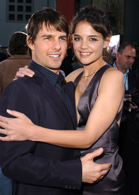 Tom Cruise and Katie Holmes at Batman Begins (2005)