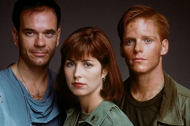 Robert Picardo, Dana Delany, and Ned Vaughn in China Beach (1988)