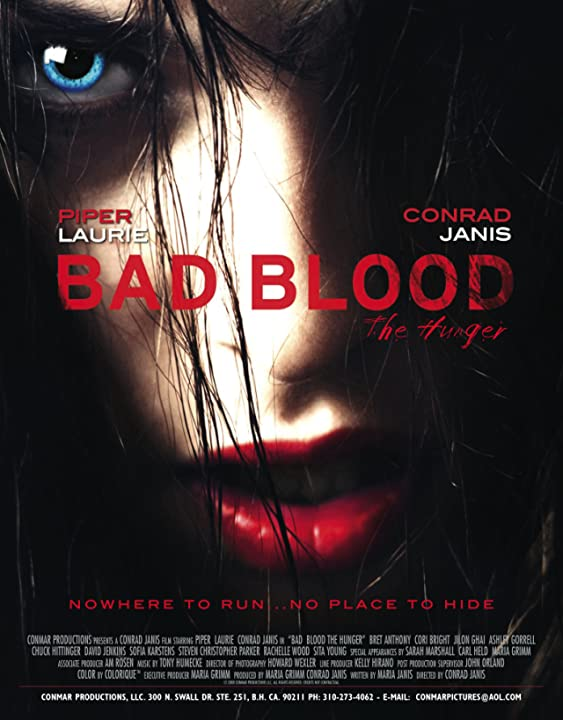 BAD BLOOD..THE HUNGER DIRECTED BY CONRAD JANIS with Piper Laurie/Conrad Janis WRITTEN/PROD: MARIA JANIS