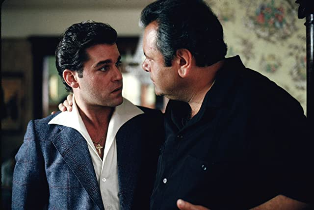 Ray Liotta and Paul Sorvino in Goodfellas (1990)