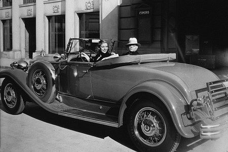Loretta Young in her c. 1930 Packard Roadster *M.W* / MPTV