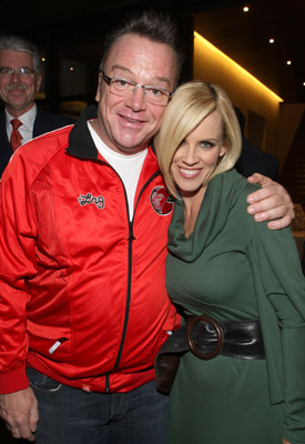 Jenny McCarthy and Tom Arnold