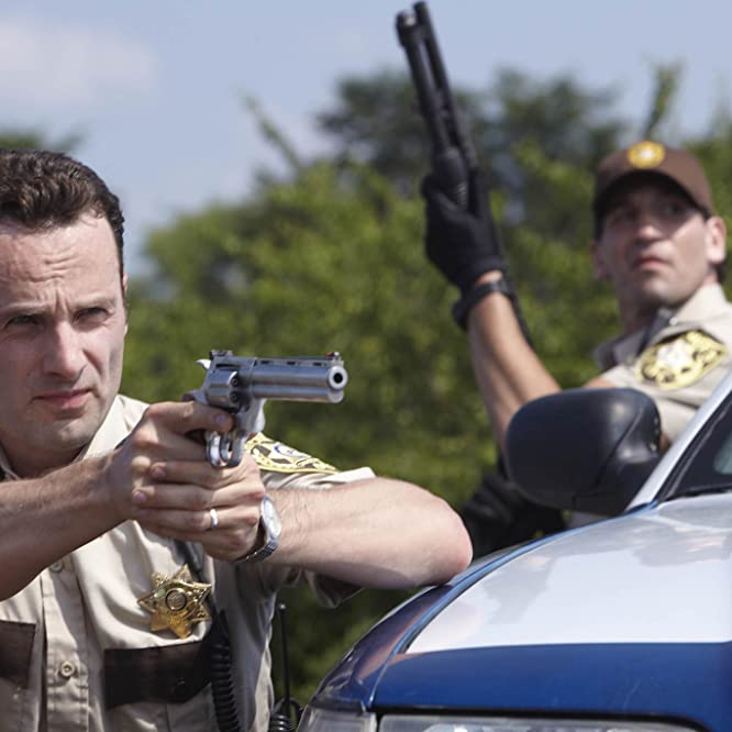 Andrew Lincoln and Jon Bernthal in The Walking Dead (2010)