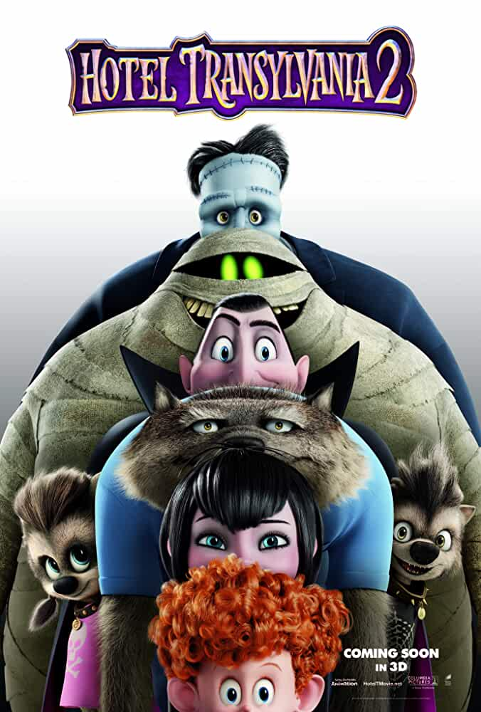 Poster Hotel Transylvania 2 2015 Full HD Movie Download Dual Audio Free