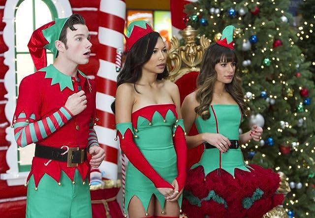 Lea Michele, Naya Rivera, and Chris Colfer in Glee (2009)