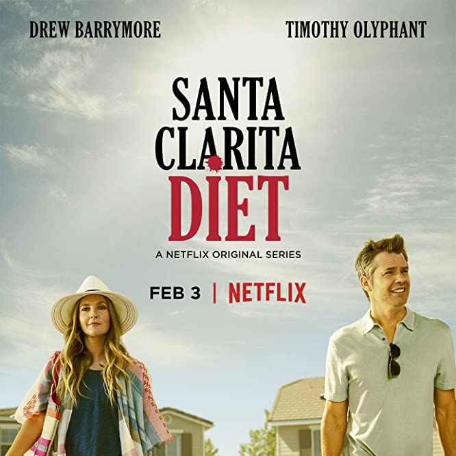 Drew Barrymore, Richard T. Jones, and Timothy Olyphant in Santa Clarita Diet (2017)