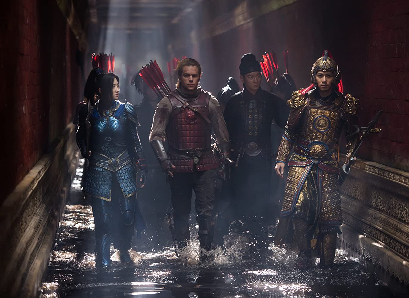 Matt Damon, Andy Lau, Tian Jing, and Cheney Chen in The Great Wall (2016)