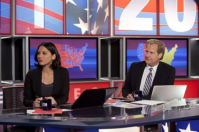Jeff Daniels and Olivia Munn in The Newsroom (2012)
