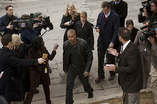 Shemar Moore and A.J. Cook in Criminal Minds (2005)