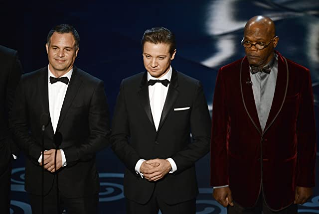 Samuel L. Jackson, Jeremy Renner, and Mark Ruffalo at The 85th Annual Academy Awards (2013)