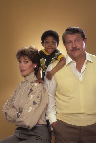 Susan Clark, Alex Karras, and Emmanuel Lewis in Webster (1983)