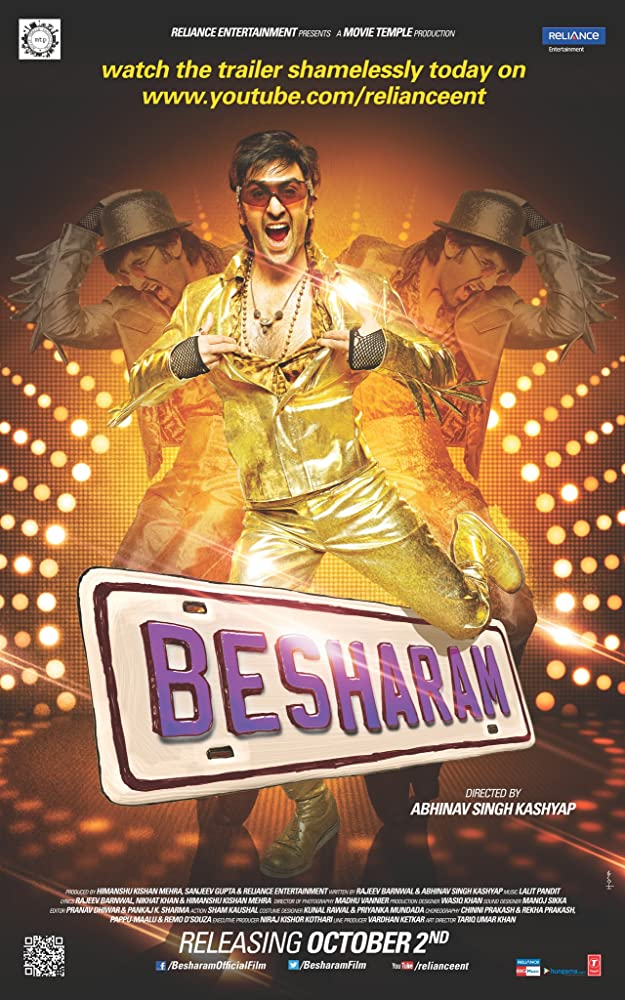 Besharam 2013 Hindi 720p BluRay 300MB Movies