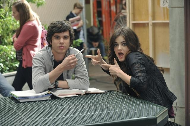 Lucy Hale and Shane Coffey in Pretty Little Liars (2010)