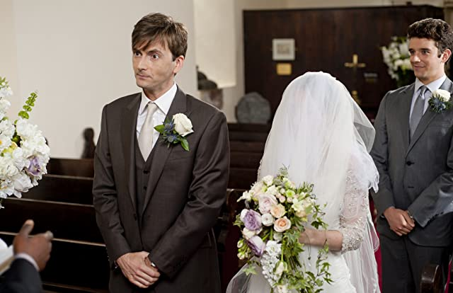 Kelly Macdonald, David Tennant, and Michael Urie in The Decoy Bride (2011)