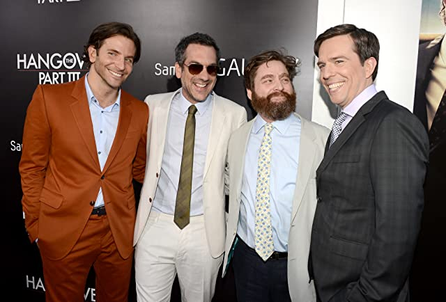 Bradley Cooper, Zach Galifianakis, Todd Phillips, and Ed Helms at The Hangover Part III (2013)