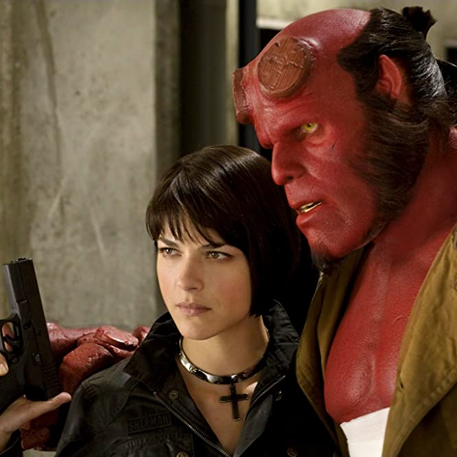 Ron Perlman and Selma Blair in Hellboy II: The Golden Army (2008)