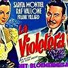 Sara Montiel, Raf Vallone, and Frank Villard in La violetera (1958)