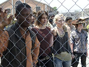 Chad L. Coleman, Lawrence Gilliard Jr., Lauren Cohan, Emily Kinney, Sonequa Martin-Green, Chandler Riggs, and Santiago Cirilo in The Walking Dead (2010)